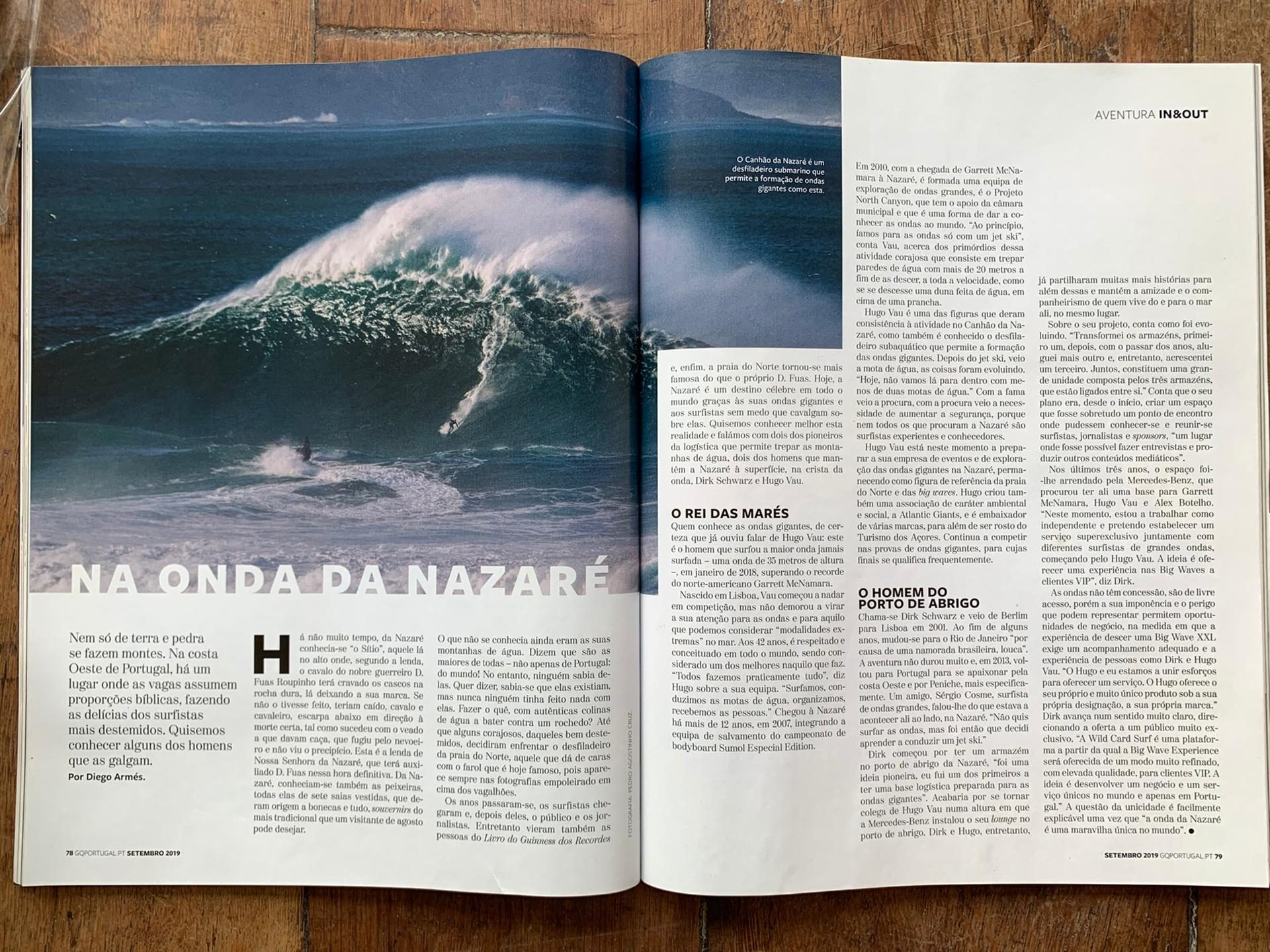 Ultimate Experience - Magazzine article about Nazaré - GQ